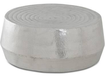 Hellos - Couchtisch rund Aluminium poliert und gehämmert