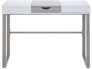 Onyx - Schreibtisch weiß-hellbraun Schubfach Auszug