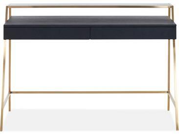 Neri - Schreibtisch schwarz Schwarzglas
