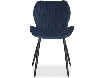 Toscani - Stuhl blau Veloursbezug