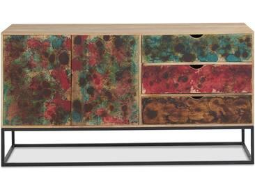 Auqa - Sideboard bunte Front Mangoholz massiv