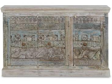 Fragnus - Sideboard 3-türig antike Holzelemente Mangoholz