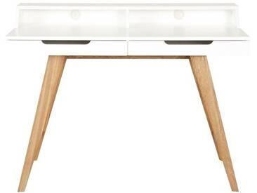Imperia - Schreibtisch matt weiß 2 Schubladen