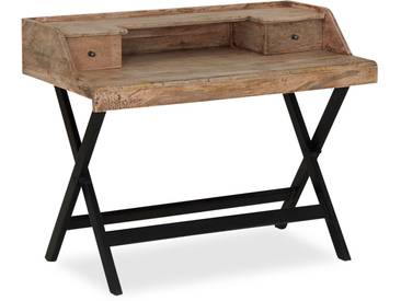 Toulos - Schreibtisch mit Aufsatz Mangoholz