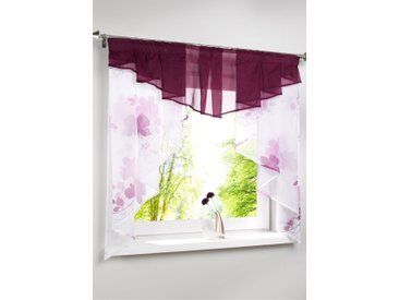 Kleinfenster mit Blumen Druck in lila