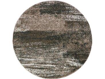 Runder Teppich Bergen in braun