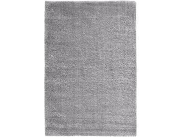 Hochflor Teppich Genf in grau