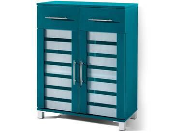 Badezimmer Schrank 2 Türen, 2 Schubladen Ted in lila