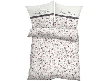 Bettwäsche mit Blumen Design in beige