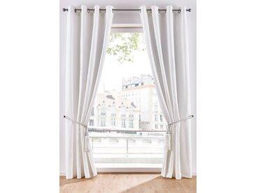 Satin Vorhang mit Raffhalter (1er Pack) weiß bonprix