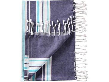 Hamam Tuch mit Streifen in blau