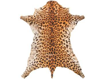 Leopardfell (synthetisch) in braun