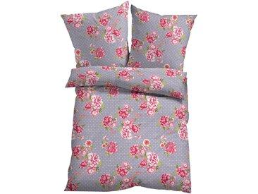 Bettwäsche mit Blumen Design in lila