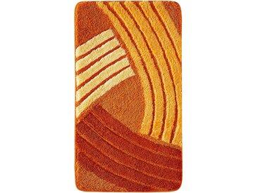 Badematte mit graphischem Muster in orange