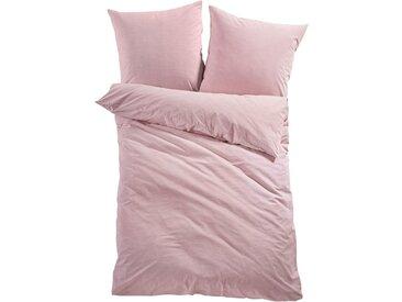 Bettwäsche in Leinen-Optik in rosa