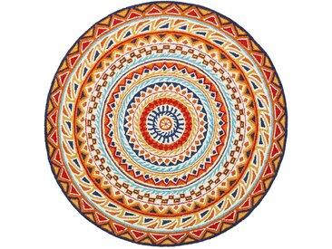 Runder Teppich Malia in beige