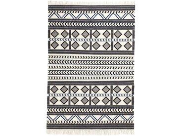 Kelim Teppich mit grafischem Muster beige bonprix