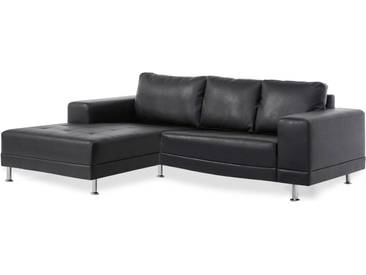 Ecksofa Foster links in schwarz