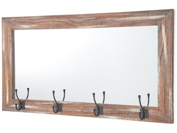 Wandspiegel mit Haken braun bonprix