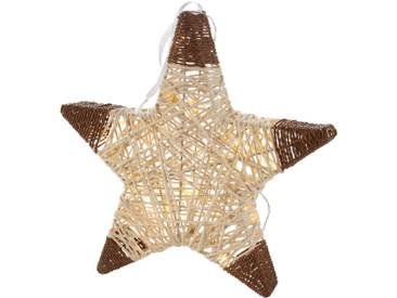 LED-Deko-Stern Star in beige