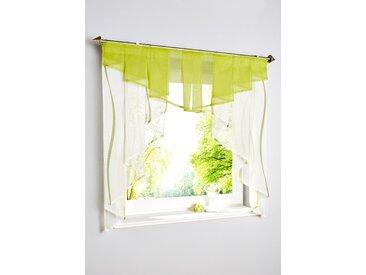 Kleinfenster mit Wellen Druck grün bonprix