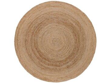 Runder Teppich aus Naturmaterialien beige bonprix