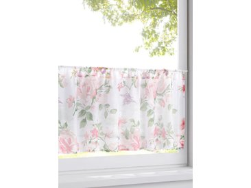 Scheibengardine mit Blumen Druck rosa bonprix