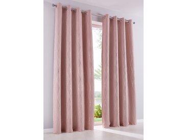 Verdunkelungsvorhang mit Glanz Druck (1er Pack) in rosa