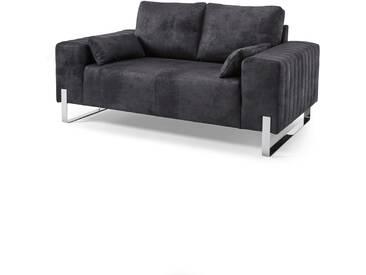 2-Sitzer Sofa Lambi in schwarz