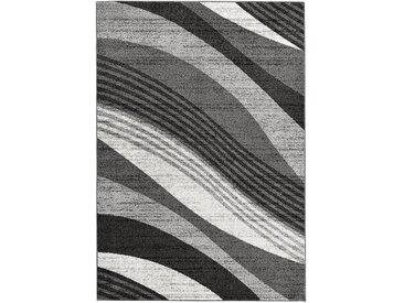Teppich mit Wellenmusterung in grau
