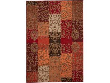 Teppich in Patchworkoptik in orange