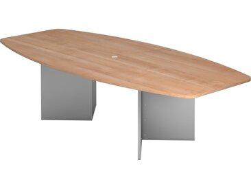 Nienhaus Konferenztisch PRO mit Holzuntergestell, 280 x 130/85 cm