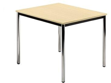 Nienhaus Besprechungstisch, kombinierbar, 80 x 80 cm, runder oder eckiger Tischfuß