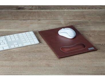 Bouvino Mousepad mit Handgelenkauflage Echtleder, drei Farben zur Auswahl