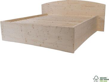Boxspringbett 90 x 200 cm Massivholzbett unbehandelt Qualität die begeistert