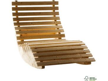 Schaukelliege Liegebreite 90 cm Sonnenliege Gartenliege Relaxliege Holz