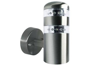 LED Wandleuchte, Außenleuchte, Außenlampe, Edelstahl, IP44, 230V, Kaltweiß-Neutralweiß (gerade)