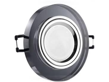 LED Glas Einbaustrahler rund 12V oder 230V, schwarz #RD8