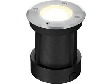 Premium LED Bodeneinbaustrahler Edelstahl Außenleuchte durchschleifbar IP65 GU10-230V (Rund)