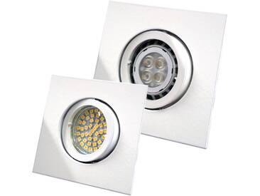LED Einbaustrahler quadratisch 12V oder 230V schwenkbar, weiß