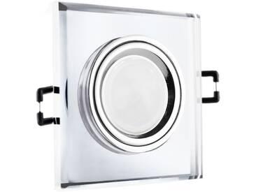 LED Glas Einbaustrahler quadratisch 12V oder 230V, klar #QD5