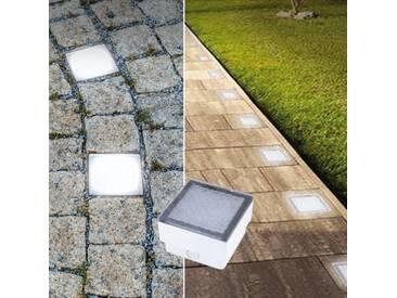 LED Pflasterstein Bodenleuchte Gartenstrahler Bodeneinbauleuchte Außenleuchte IP68 230V neutralweiß (#PF1)