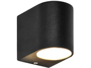 LED Wandleuchte, Wandlampe, Außenleuchte, Aluminium, 1-Flammig, schwarz, GU10-230V, (Form:E)
