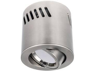 LED Aufbaustrahler aufputz schwenkbar Aluminium Edelstahl gebürstet GU10-230V #WF3