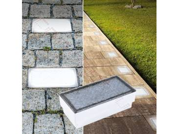 LED Pflasterstein Bodenleuchte Gartenstrahler Bodeneinbauleuchte Außenleuchte IP67 230V warmweiß (#PF2)