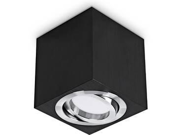 LED Aufbaustrahler aufputz schwenkbar quadratisch Aluminium schwarz GU10-230V #WF6