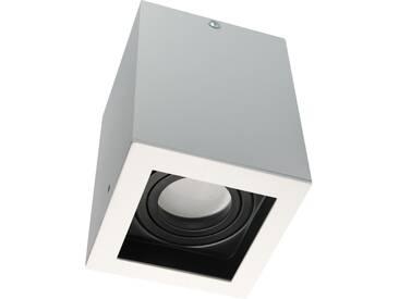 LED Aufbauleuchte aufputz schwenkbar quadratisch weiß GU10-230V #WF14