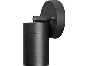 LED Wandleuchte SPOT Außenleuchte, 1-Flammig, Aluminium, Schwarz, GU10-230V, (Form:W24)