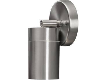 LED Wandleuchte SPOT Außenleuchte, 1-Flammig, Edelstahl, GU10-230V, (Form:W25)