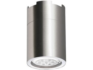LED Aufbaustrahler aufputz Edelstahl gebürstet GU10-230V #WF5